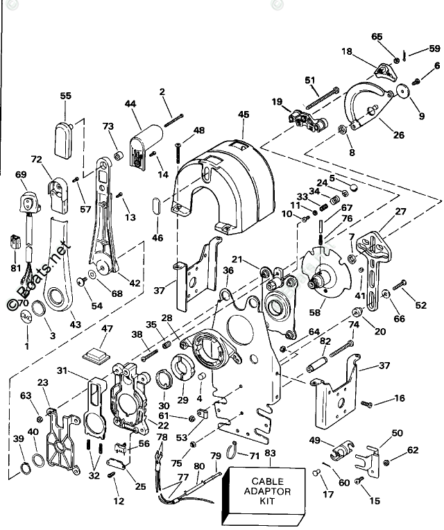 OMC Sterndrive Accessories 1992 OEM Parts Diagram for