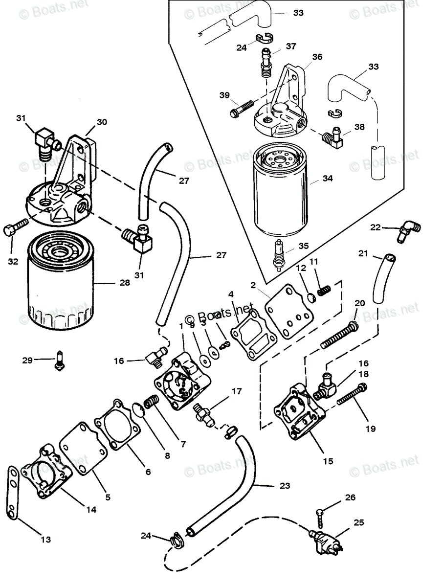 hight resolution of mercury mercury mariner outboard parts by hp liter 225hp oem parts diagram for fuel pump and fuel filter boats net