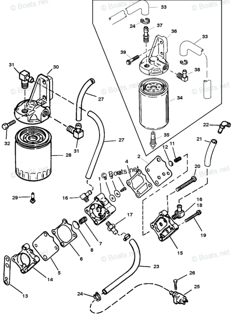 small resolution of mercury mercury mariner outboard parts by hp liter 225hp oem parts diagram for fuel pump and fuel filter boats net