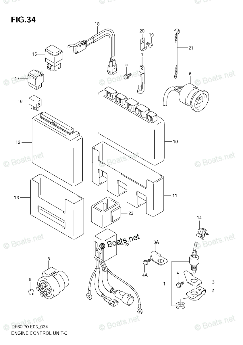 Suzuki Outboard Parts by Year 2005 OEM Parts Diagram for