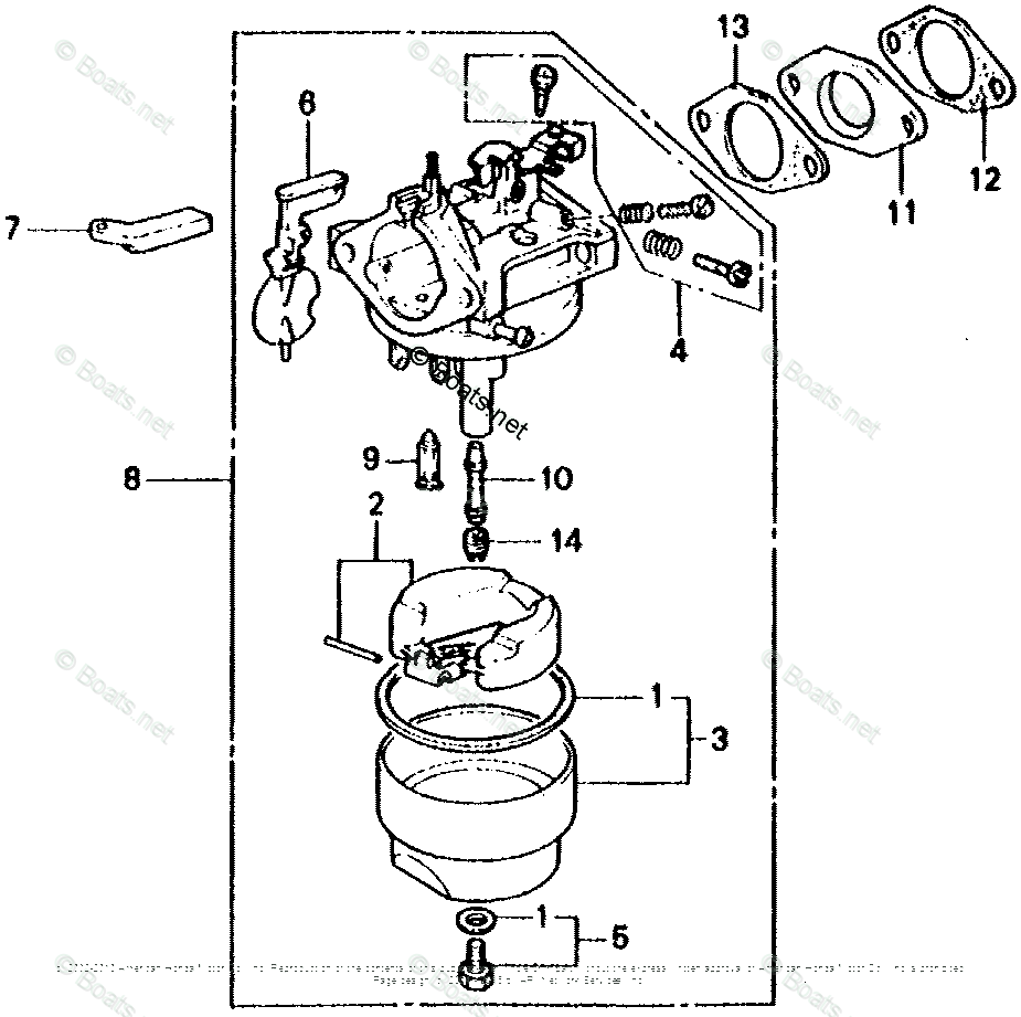 Honda Small Engine Parts G200 OEM Parts Diagram for