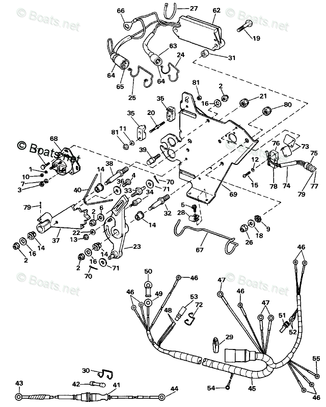 OMC Sterndrive Parts 3.0 Liter OEM Parts Diagram for Wire