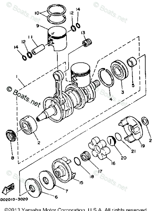 Yamaha Waverunner Parts 1994 OEM Parts Diagram for