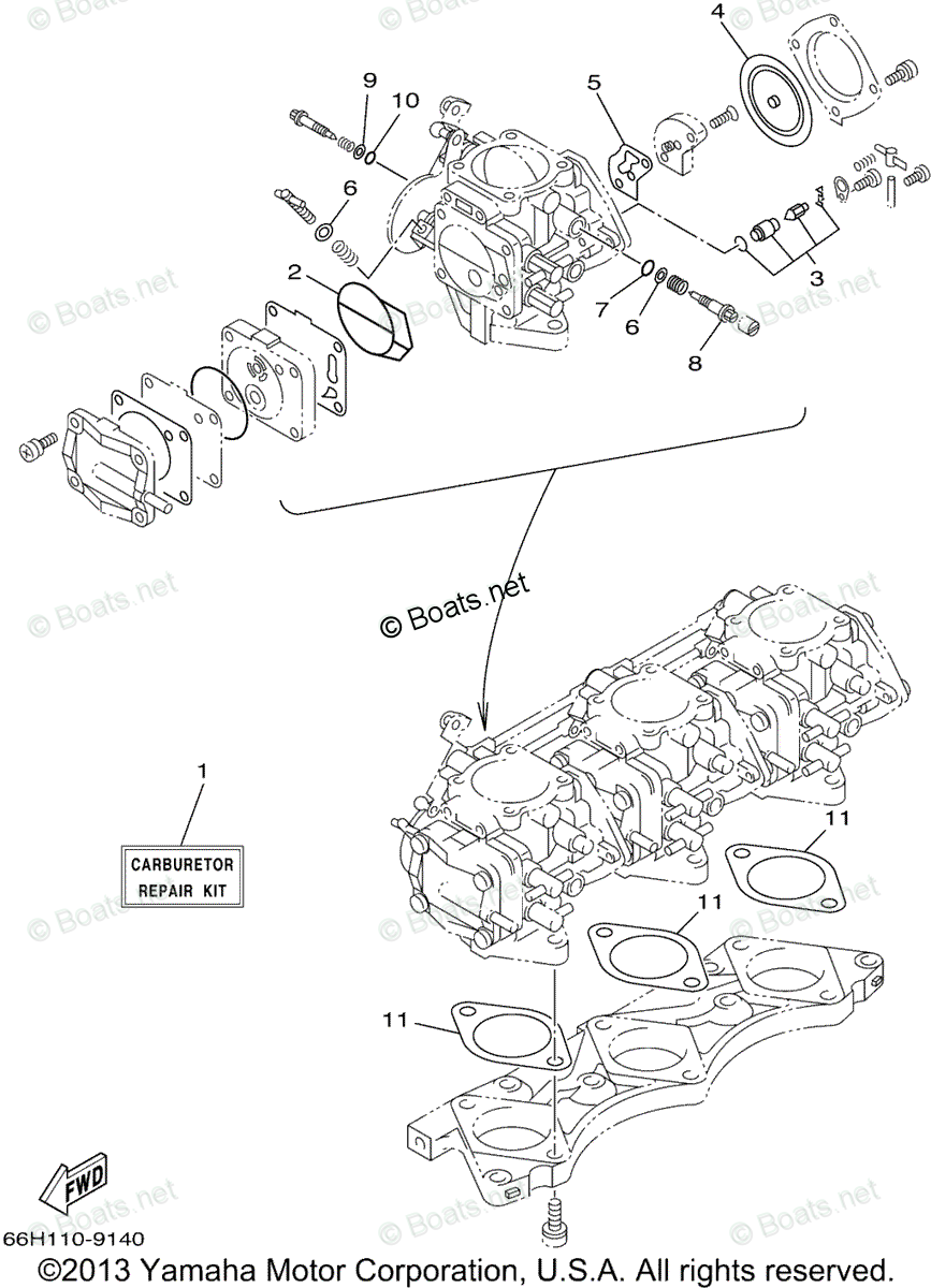 Yamaha Waverunner Parts 1999 OEM Parts Diagram for Repair