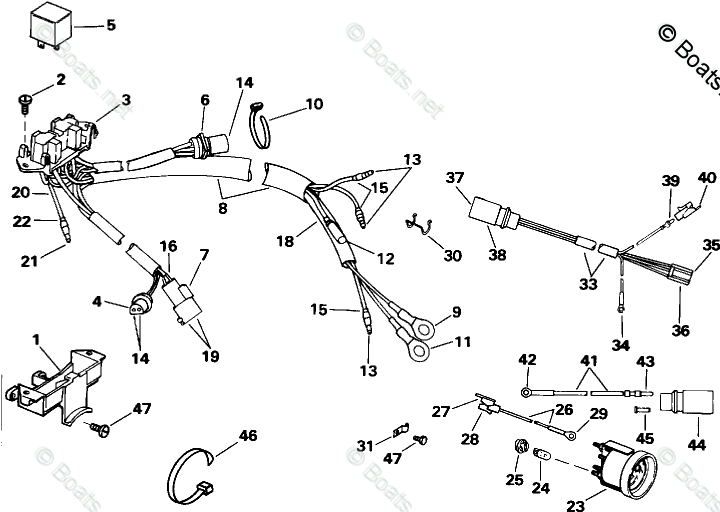 Johnson Outboard Parts by HP 175HP OEM Parts Diagram for