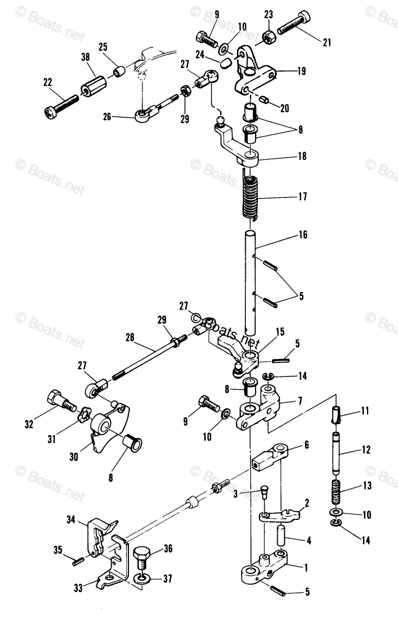 Mercury Throttle Control Diagram - mercury quicksilver