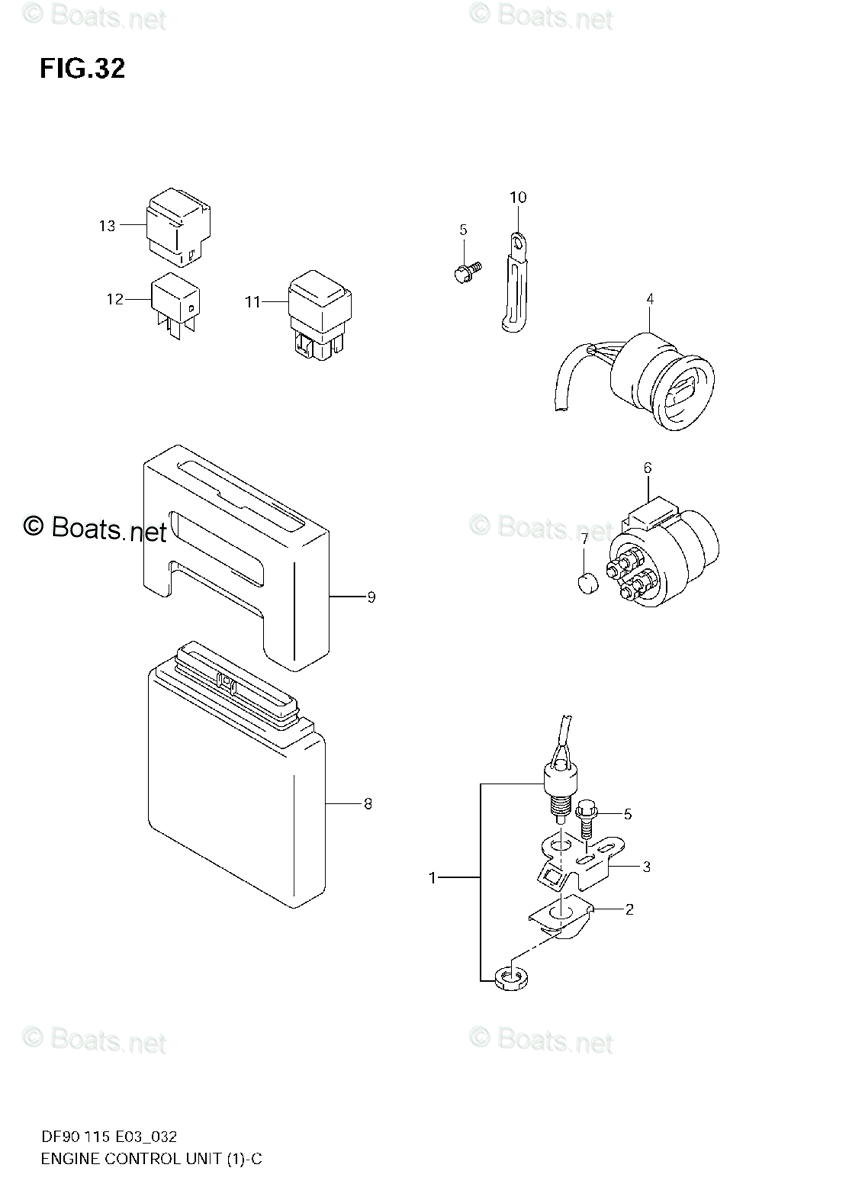 Suzuki Outboard Parts by Year 2002 OEM Parts Diagram for