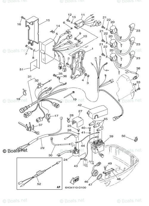small resolution of yamaha outboard parts by hp 70hp oem parts diagram for electrical70 hp yamaha wiring diagram