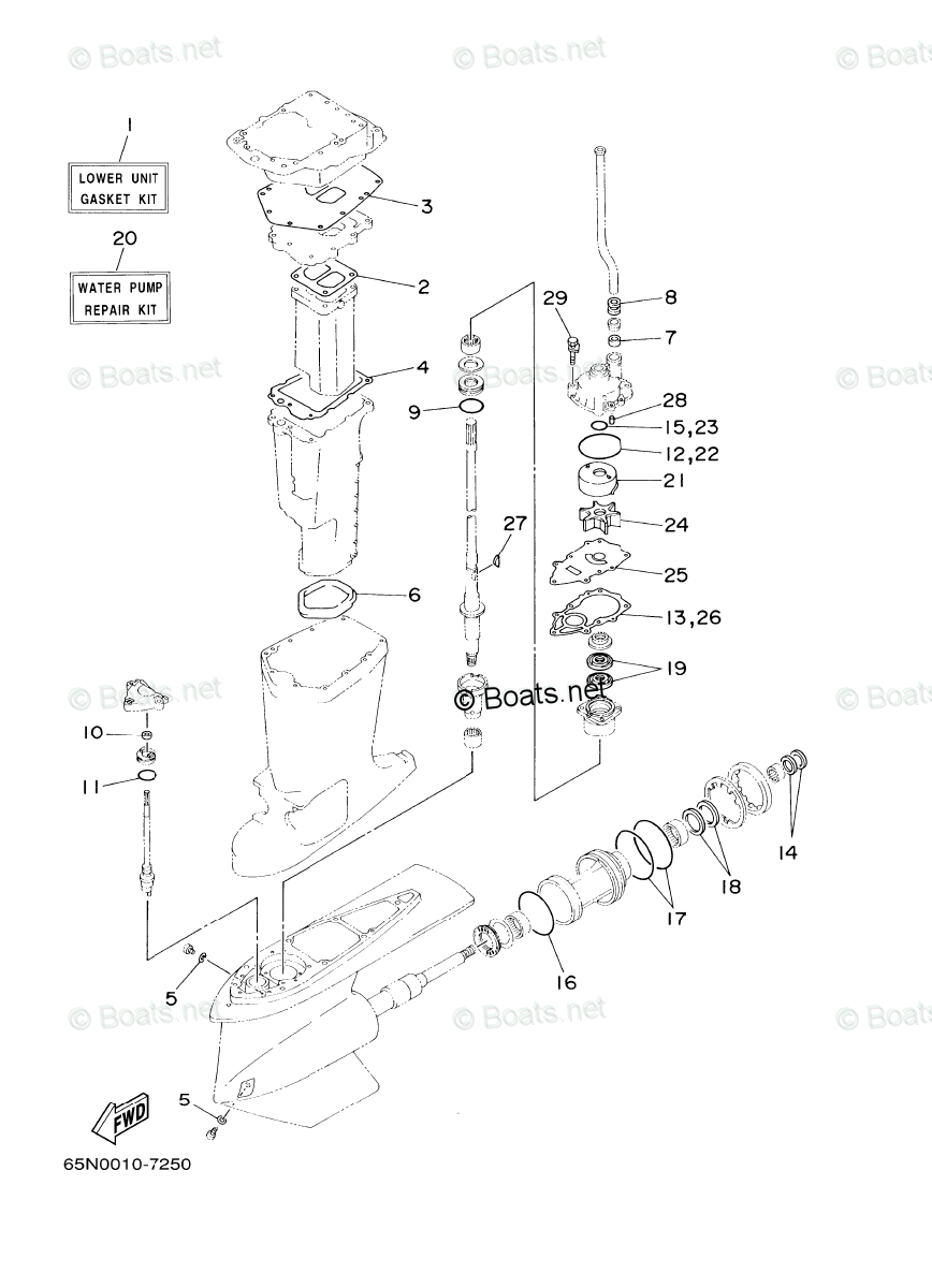 Yamaha Outboard Parts by Year 2004 OEM Parts Diagram for