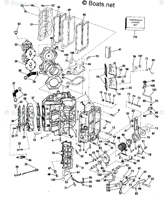 Johnson Outboard Parts by Year 1977 OEM Parts Diagram for