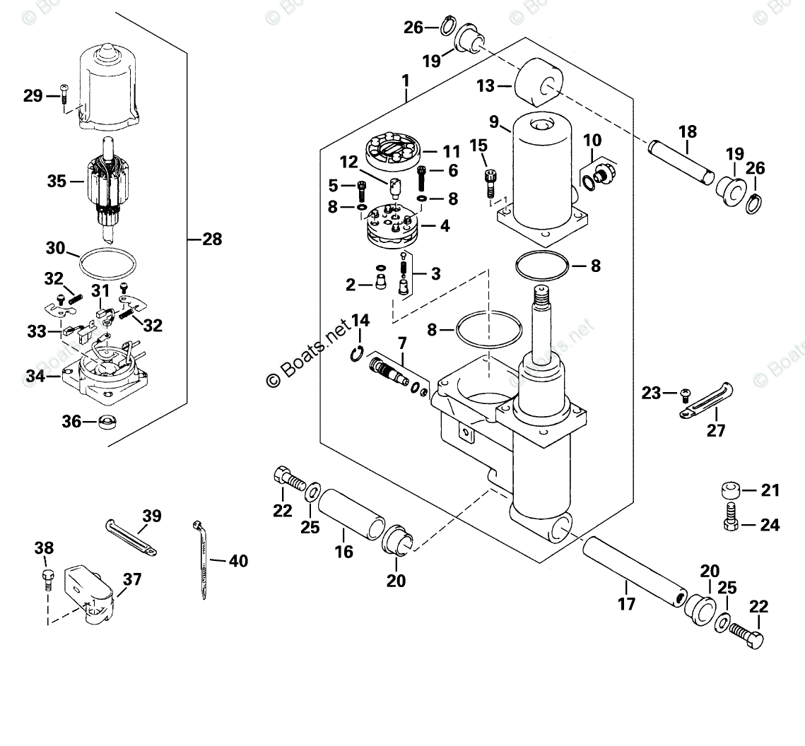 Evinrude Outboard Parts by Year 2001 OEM Parts Diagram for