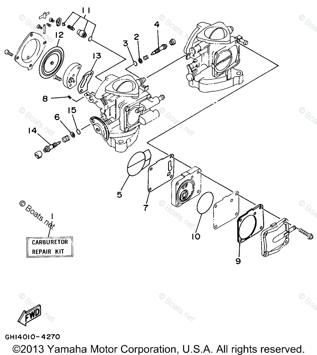 Yamaha Waverunner Parts 1995 OEM Parts Diagram for Repair