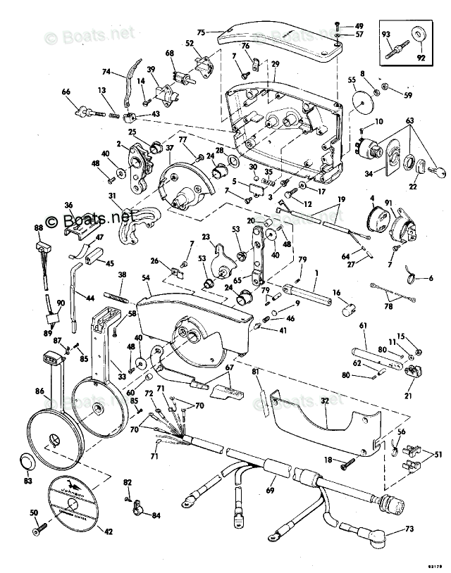 Johnson Outboard Parts by HP 85HP OEM Parts Diagram for