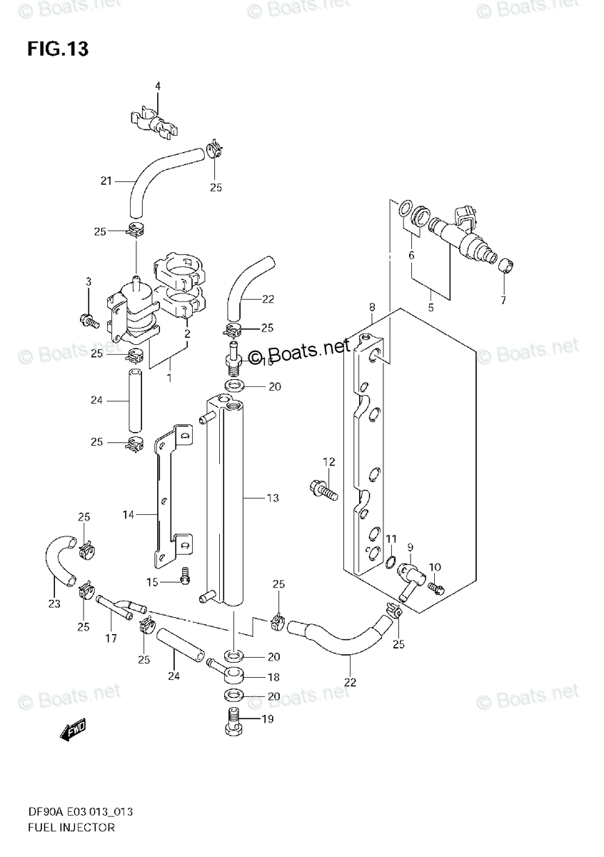 Suzuki Outboard Parts by Year 2013 OEM Parts Diagram for