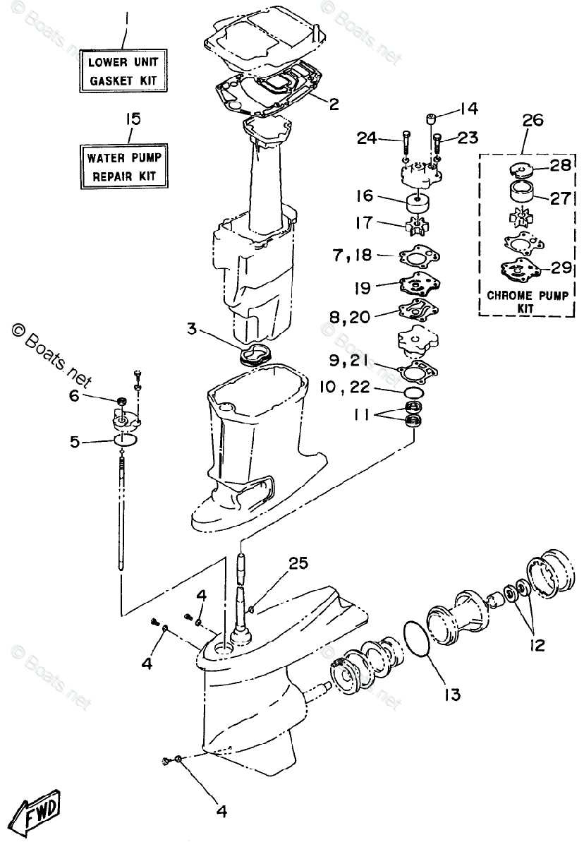 Yamaha Outboard Parts by Year 1996 OEM Parts Diagram for