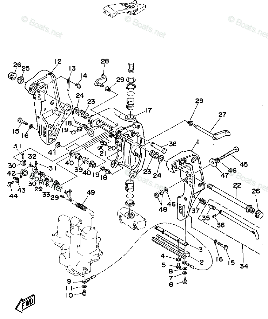 Yamaha Outboard Parts by HP 70HP OEM Parts Diagram for
