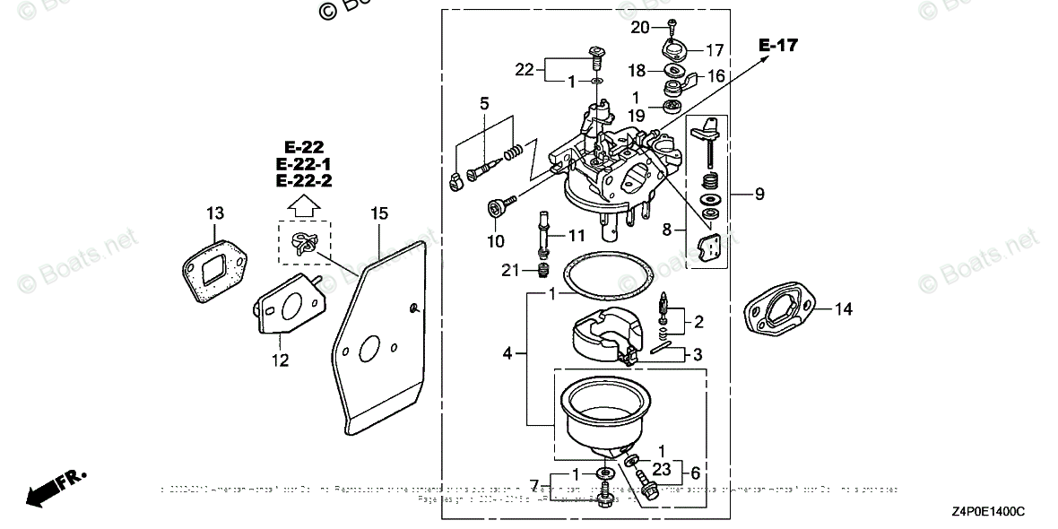 Honda Small Engine Parts GXV160 OEM Parts Diagram for