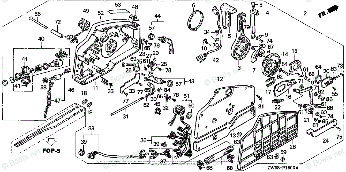 Honda Outboard Parts by Year 2001 OEM Parts Diagram for
