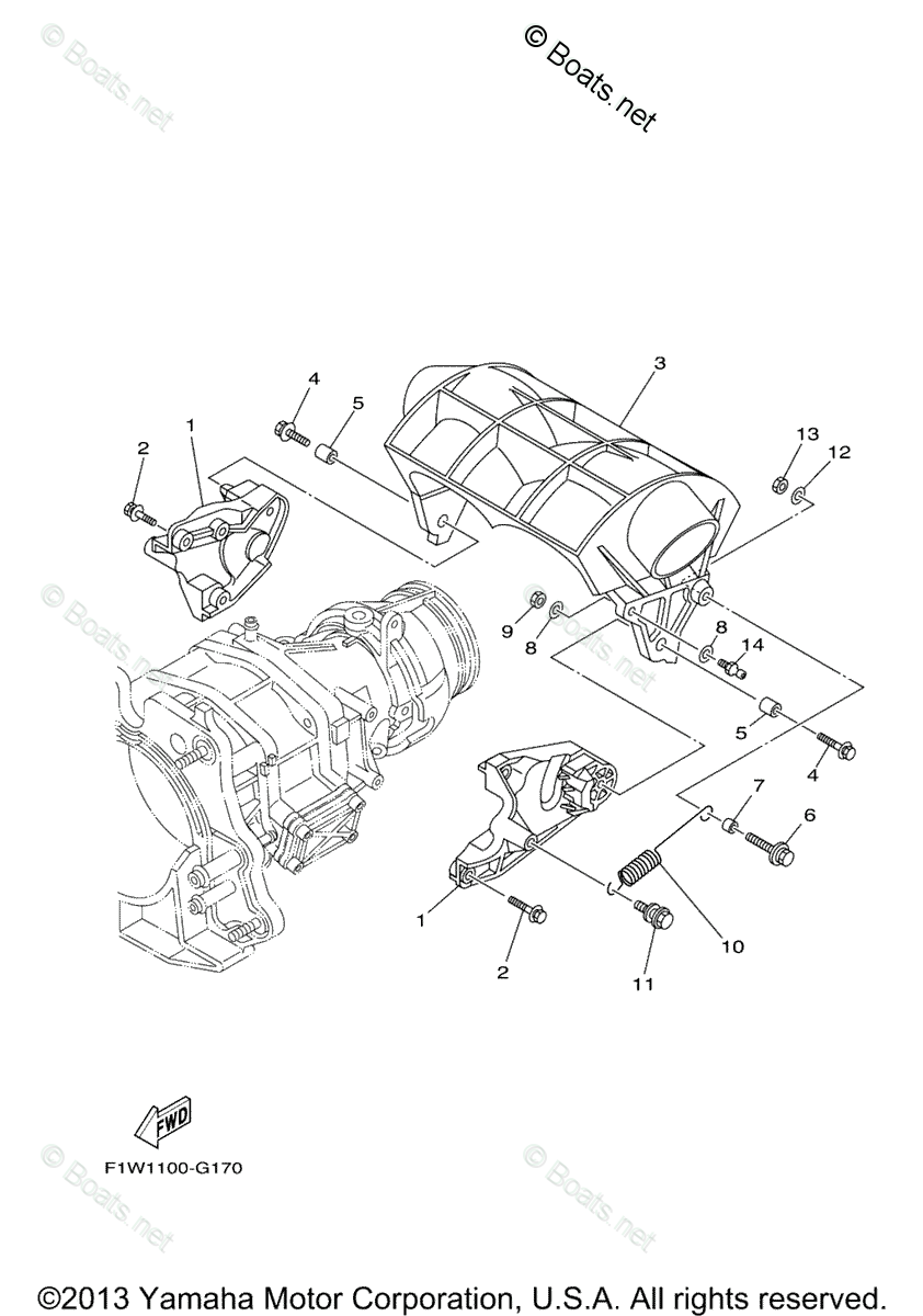 Yamaha Waverunner Parts 2008 OEM Parts Diagram for Jet