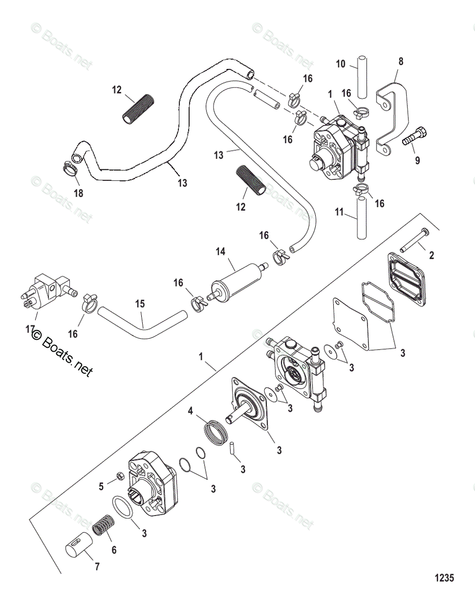 hight resolution of mercury mercury mariner outboard parts by hp liter 25hp oem mercury outboard fuel system diagram mercury fuel pump diagram