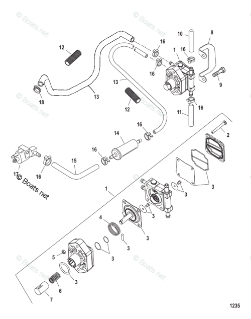 small resolution of mercury mercury mariner outboard parts by hp liter 25hp oem mercury outboard fuel system diagram mercury fuel pump diagram