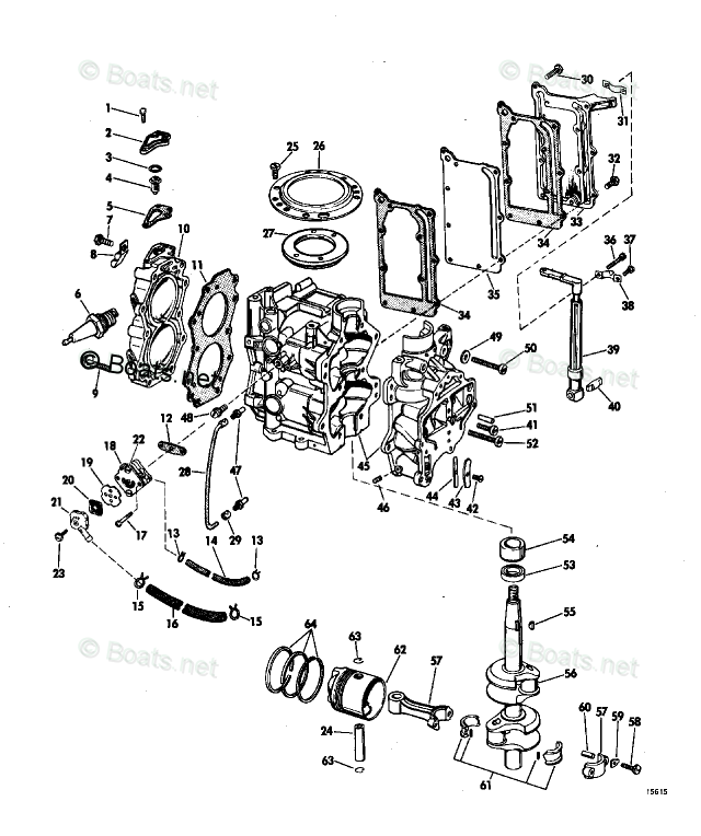 Johnson Outboard Parts by Year 1969 OEM Parts Diagram for
