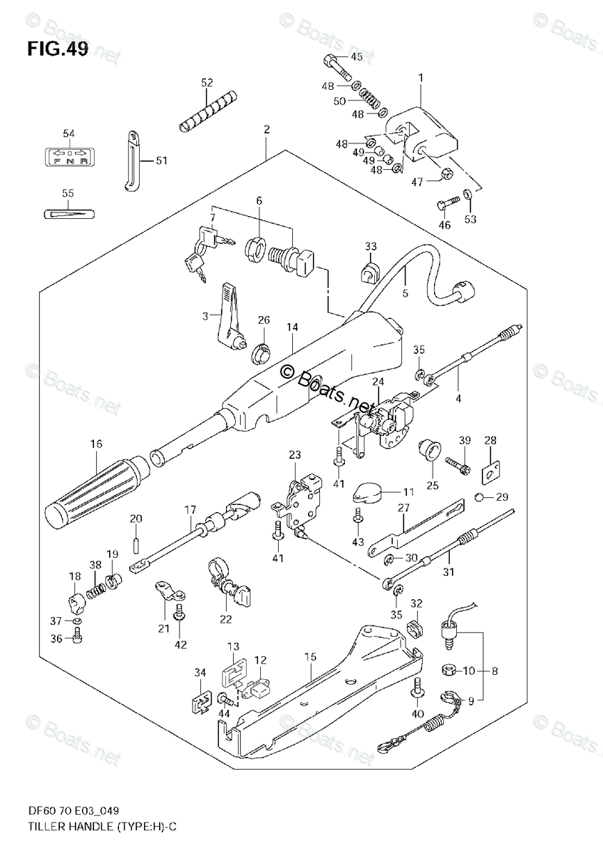 Suzuki Outboard Parts by Model DF 70 OEM Parts Diagram for
