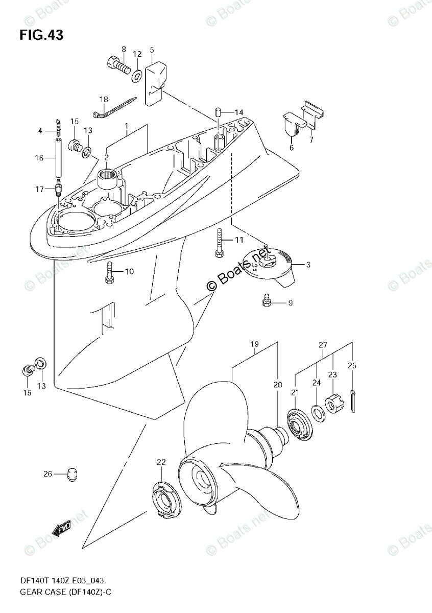 Suzuki Outboard Parts by Year 2004 OEM Parts Diagram for