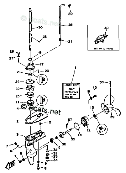 Yamaha Outboard Parts by HP 2HP OEM Parts Diagram for
