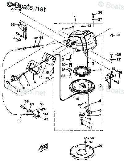 Yamaha Outboard Parts by HP 40HP OEM Parts Diagram for