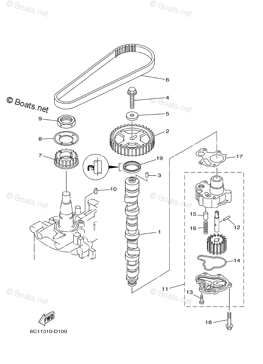 Yamaha Outboard Parts by HP 60HP OEM Parts Diagram for OIL