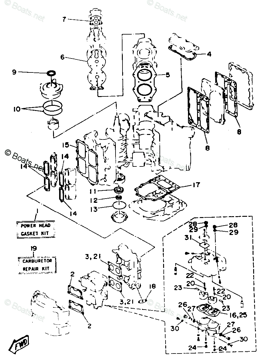 Yamaha Outboard Parts by Year 1993 OEM Parts Diagram for