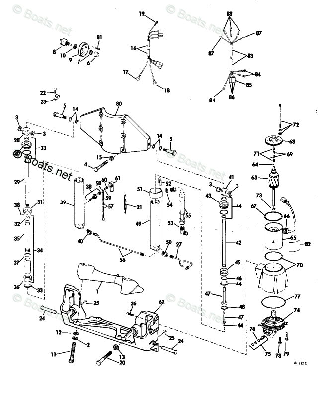 Evinrude Outboard Parts by Year 1982 OEM Parts Diagram for