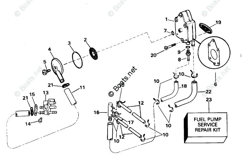 Evinrude Outboard Parts by Year 1995 OEM Parts Diagram for