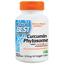 Doctors Best Curcumin Phytosome featuring Meriva - 60 x 500mg Vegicaps