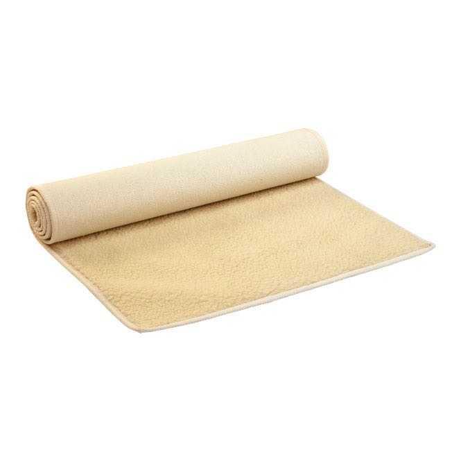 tapis de yoga surya premium avec bordure de coton en pure laine vierge
