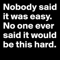Nobody Said It Would Be Easy
