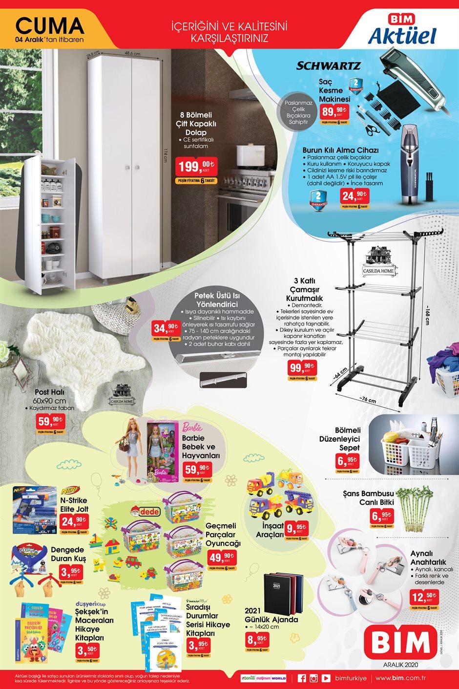 4 Aralık BİMkataloğu 2020 | Uygun fiyatlı mutfak eşyaları bu cuma BİM'de!