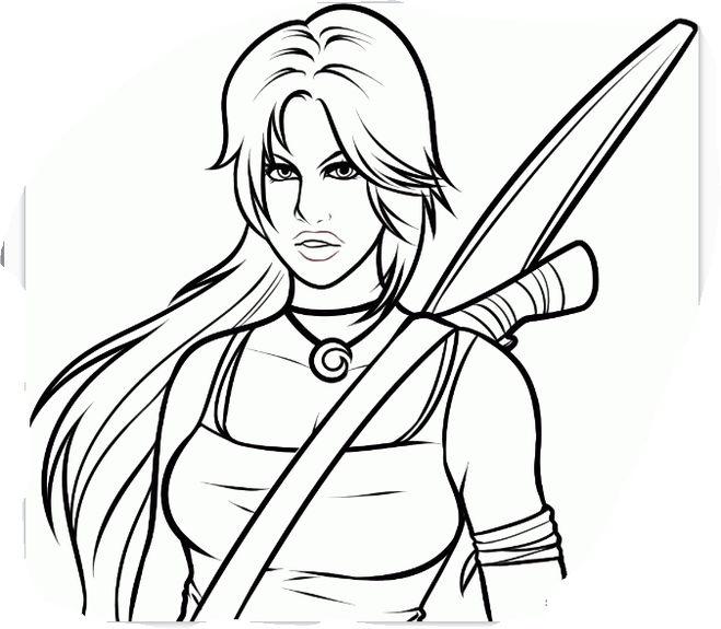 Как нарисовать Лару Крофт из игры Tomb Raider карандашом