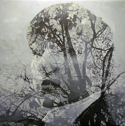 Artist painter Pakayla Biehn paintings double exposures