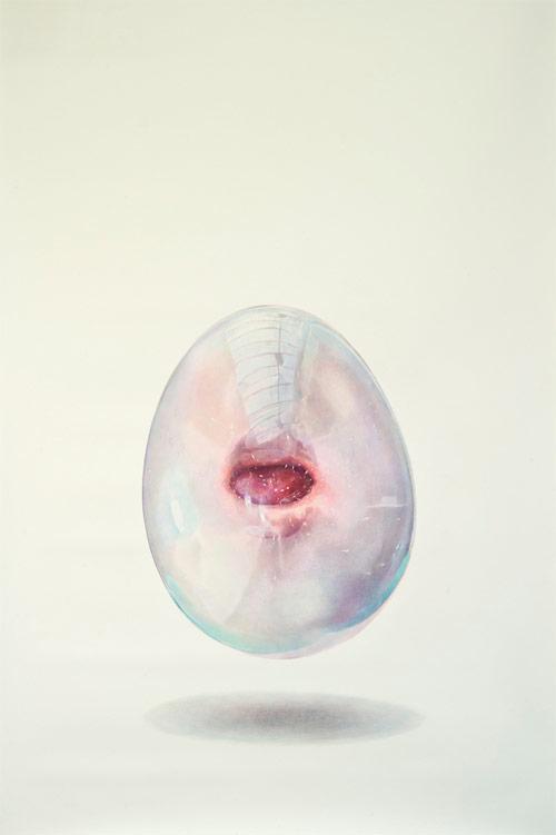 Bubble gum drawings by artist Julia Randall