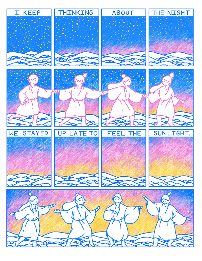 """Sunrise"" by Illustrator Evan M. Cohen"