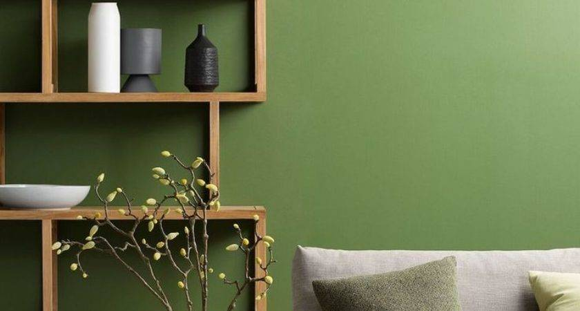 23 Delightful Green Colour Wall Painting Homes Decor