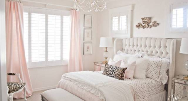 22 Inspiring Pink And White Bedroom Decorating Ideas Photo Homes Decor