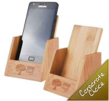 Bamboo Phone Holder  BrandMe