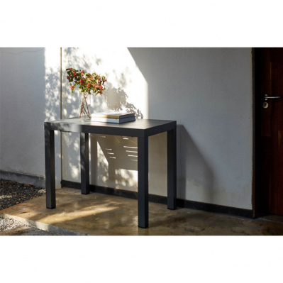 console extensible nashi 100 142 cm aluminium gris