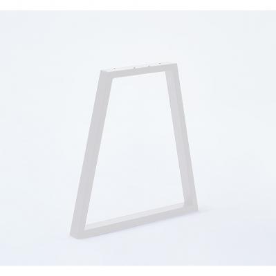 pied forme trapeze pour banc 40 x 20 x 50 cm blanc mat