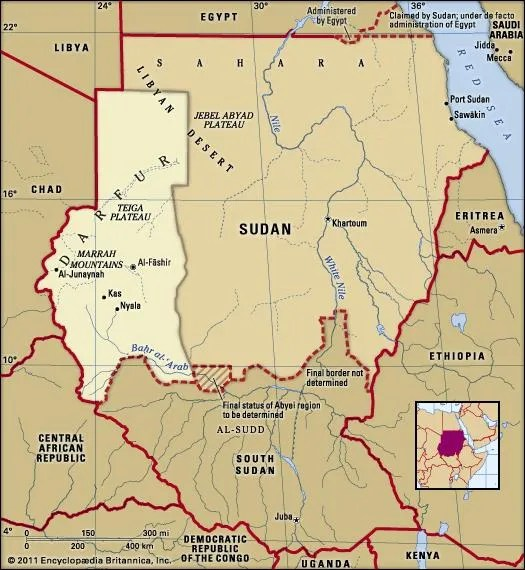 Darfur historical region and former province Sudan