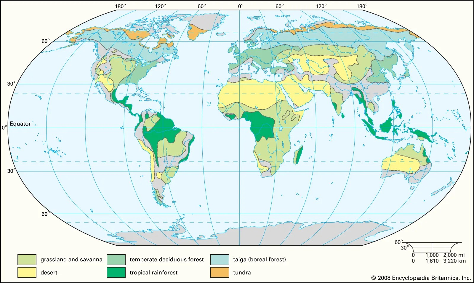 Temperate deciduous forest · coniferous forest. Biome Definition Map Types Examples Facts Britannica