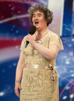 Susan Boyle singing on Britain's Got Talent